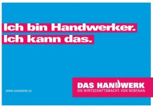 1120 A4 Transporter-Aufkleber Ich bin Handwerker...